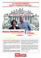 Profession de foi de Marine Roussillon