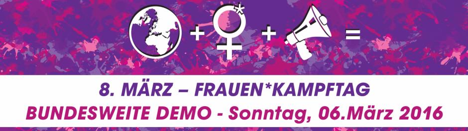 [Berlin] Manifestation pour les droits de femmes (Frauen* Kampftag)