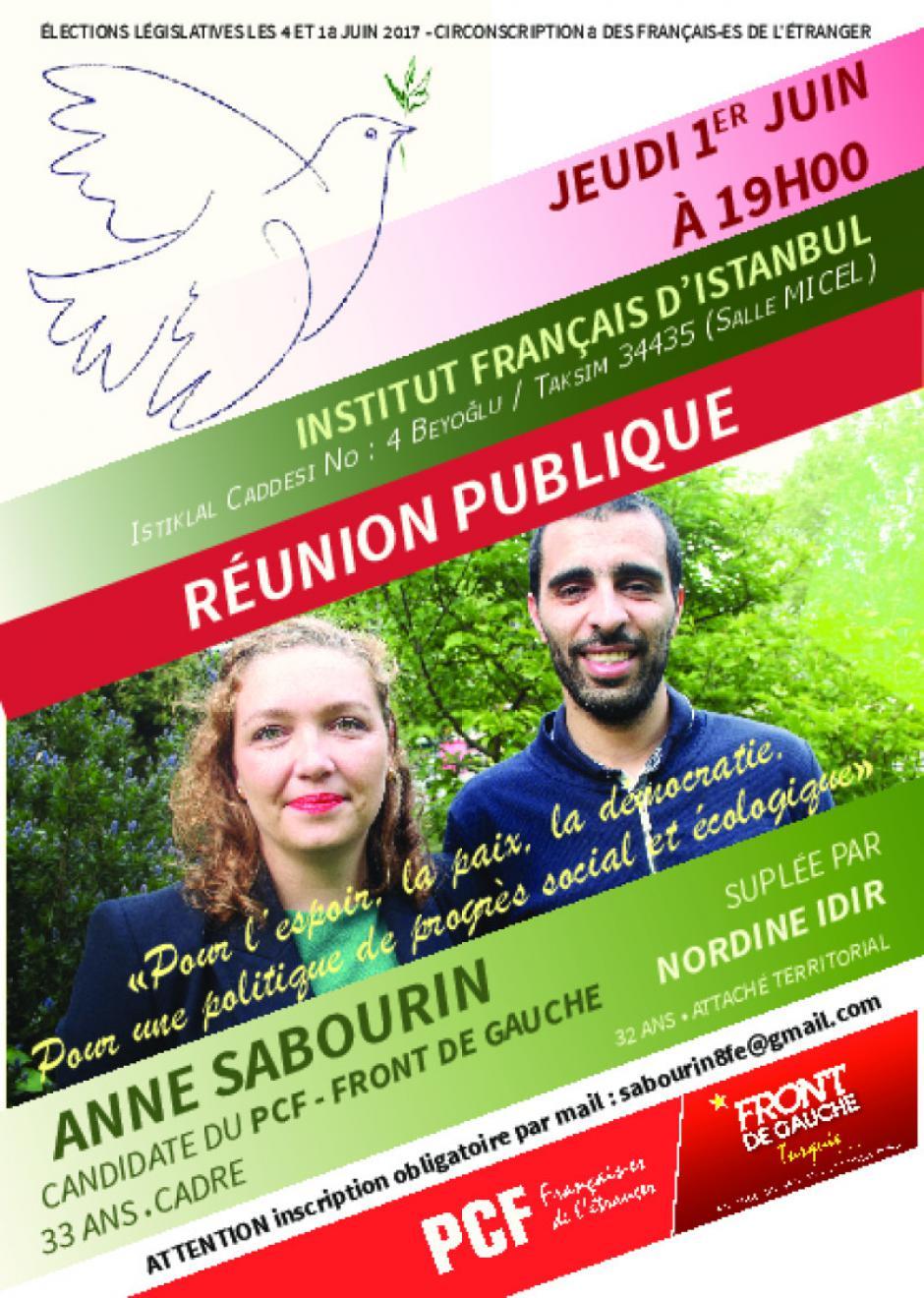 Réunion publique à Istanbul
