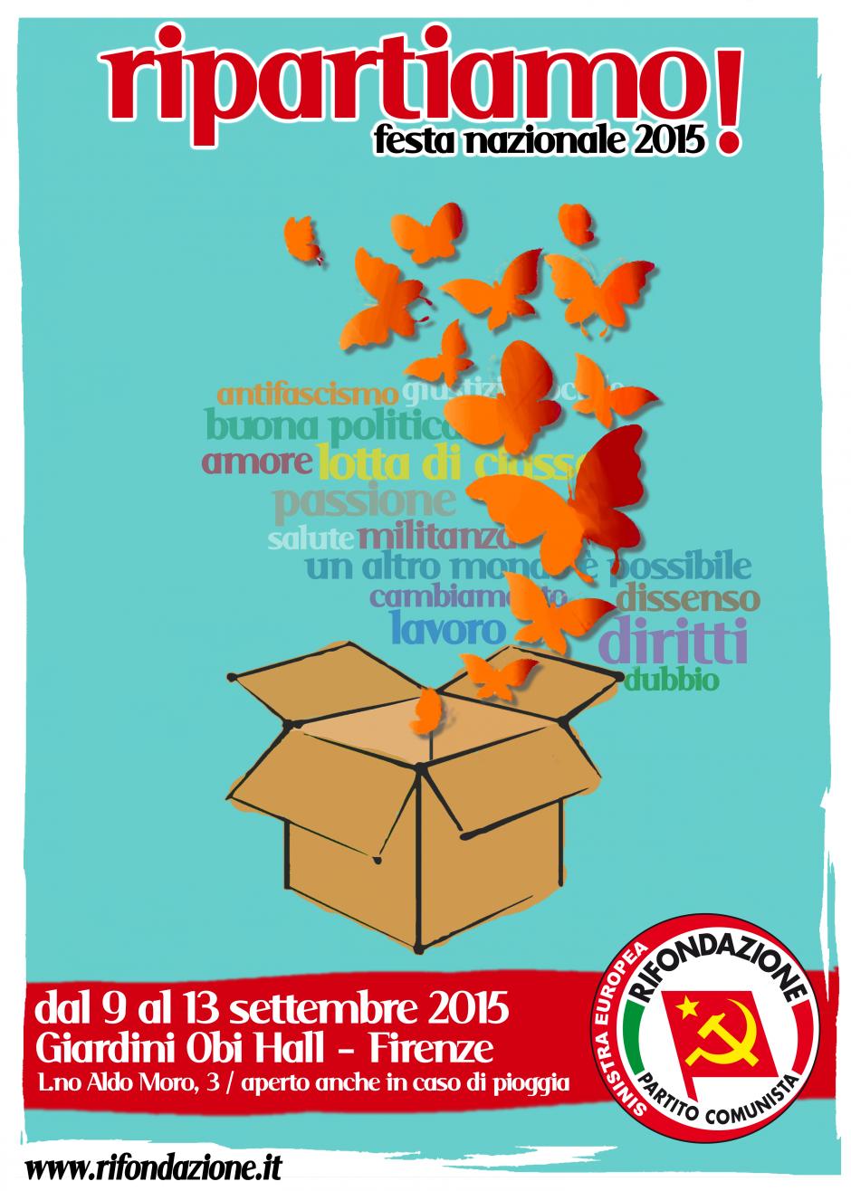 [Florence] Ripartiamo ! Fête nationale de Rifondazione Comunista